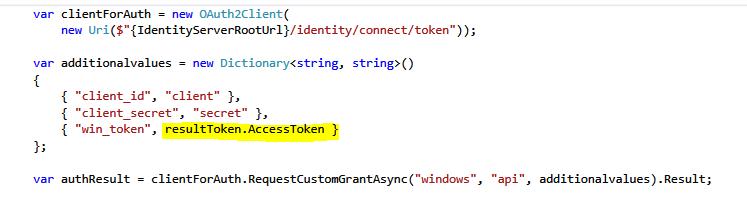 Requesting custom windows grant